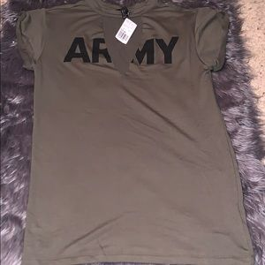 Army style tunic Forever 21 dress